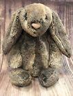 Jellycat London Bashful Woodland bunny rabbit Floppy Ears brown Gray plush Silky