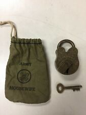 RAJALOCK REGD ALIGARH ANTIQUE BRASS PADLOCK NO. 201 W/ KEY