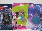 Disney Figurine Key Chain - Cinderella, Minnie Mouse, BATMAN, Colorful Figures