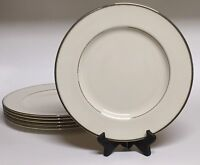 Set of 6 Lenox Montclair Dinner Plates with Beautiful Platinum Trim