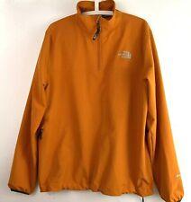 The North Face Mens Sz Medium Orange 1/4 Zip Pull Over Track Sweatshirt Jacket