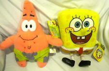 "SpongeBob + Patrick Star Fish 14"" Plush Doll Soft Stuffed Toy Figures Combo-New!"