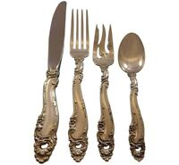 Decor by Gorham Sterling Silver Flatware Set for 6 Service 24 Pieces