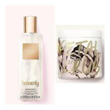 Victoria's Secret HEAVENLY Shimmer Fragrance Mist + Petal Scrub Smoothing Polish