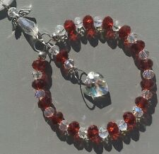 Red Crystal Sun-catcher January Birthstone - Guardian Angel Birthday Gift