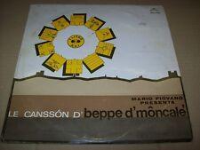 LP VINILE 33 GIRI-MARIO PIOVANO-LE CANSSON D' BEPPE D' MONCALE'-FONIT CETRA