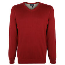Marks & Spencer Mens Blue Harbour V Neck M&S Jumper Sweater Pullover Top Free PP