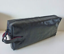 MAC Makeup Cosmetics Bag in Black Faux Patent Leather, Brand NEW! 100% Genuine!