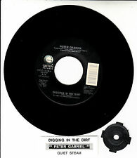 "PETER GABRIEL  Digging In The Dirt 7"" 45 rpm record + juke box title strip"