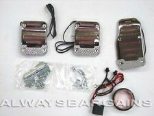 Megan Chrome Neon light Pedals Fits Nissan Maxima 1988-2010 Red MT