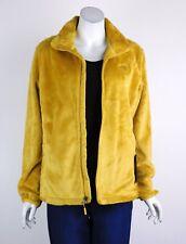 The North Face Fleece Osito Jacket Fleece Zip Front Logo Collar Yellow Small New