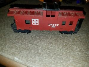 ATSF 7240 RED CABOOSE WITH BLACK ROOF