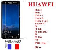 HUAWEI P8/P8 Lite/P9/P9 Lite/P10/P10 Plus - Protection écran verre trempé