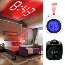 Reloj Despertador Con Proyección Indicador De Voz Y Pantalla Digital LED De Mesa