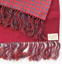 Vintage cashmere wool scarf with fringe 20th century classic Scottish mens wear