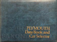 1974 Plymouth Data Book Dealer Album Fury Satellite Barracuda Valiant Etc Facts
