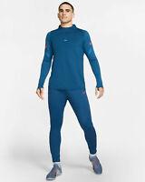 Nike Dri-FIT Strike Mens Football Drill Top Blue Size XS AO5407 081