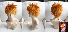 Bleach Kurosaki Ichigo Anime Costume Cosplay Wig ( Need Styled ) +Track +Cap