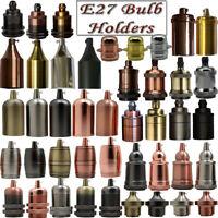 Multi Shape Modern E27 /ES Lamp bulb holder suitable Choose Colour Vintage light