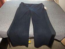 NWT COLDWATER CREEK Microfleece Black Pants L Large 14 - 16 X 32 $50 NEW