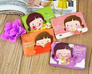 Cute Korean ID Credit Card Holder Wallet Girl Lovely Business Pocket Bag Case