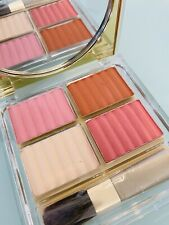 New ESTEE LAUDER Deluxe All-Over Face Compact Petal Nectar Transparent Pink Kiss