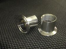 """STAINLESS ADAPTER 1 1/2"""" TRI CLAMP - 3/4"""" NPT FEMALE PIPE CONVERTER #WH150-075F"""
