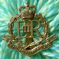 Royal Military Police Cap Badge QC BRASS Slider Antique
