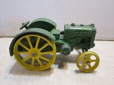 "Ertl ? 6"" Cast Iron Metal John Deere Farm Tractor Wide Wheels Tires CC164"