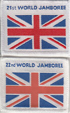 Boy Scout Badges 21st & 22nd WORLD JAMBOREE 2007 + 2011 Union Flags