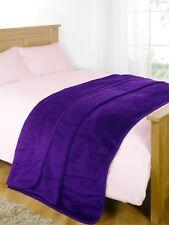 Dreamscene Large Luxury Faux Fur Throw Sofa Bed Mink Soft Warm Fleece Blanket Double - 150 X 200 Cm Mthga99 Grape Purple