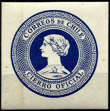 CHILE, OFFICIAL SEAL, BLUE, YEAR 1902, MNH