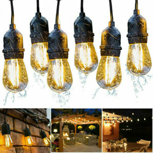 Heavy Duty LED String lights Outdoor IP65 Waterproof 48ft Cable Gazebo Garden