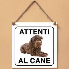 Schnoodle 1 Attenti al cane Targa piastrella cartello ceramic tile sign dog