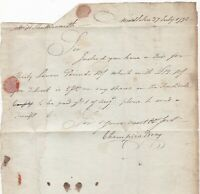 # 1798  SERPENTINE MIDDLETON POSTMARK PRE-PAID 1d CHAMPION BRAY > ROCHDALE CANAL