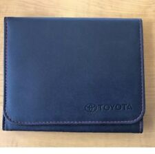 Toyota Owners Manual Cover Case OEM Brand NEW STYLE - RED STITCHING