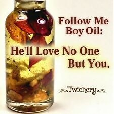 FOLLOW ME BOY OIL, Wicca, Pagan, Hoodoo Conjure, Faithfulness, Love and Loyalty