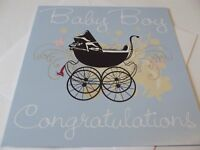 Baby Boy Congratulations.......Blank New Baby Greetings Card