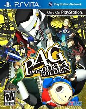Persona 4 Golden [Sony PlayStation Vita PSV, Atlus JRPG, Improved Graphics] NEW