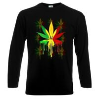 Weed Smoke Marihuana Cannabis Long Sleeve T-Shirt Neu All Sizes