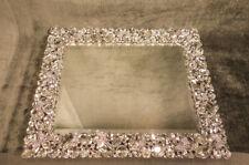 """OLIVIA RIEGEL Crystal """"Roxy"""" Mirrored Vanity Tray"""