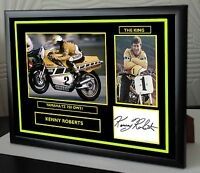 """Kenny Roberts Framed Canvas Signed Tribute """" Great Gift """""""
