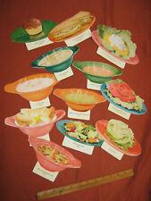 vtg Diner Food sign dinner lunch menu item pictures retro kitchen decor ad old