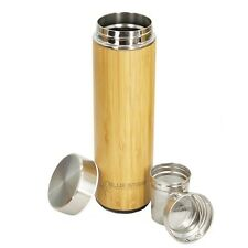 550ml Bamboo Stainless Steel Vacuum Insulated coffee, tea, Thermos water Bottle