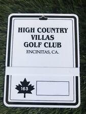 High Country Villas Golf Club Encinitas, Ca Plastic Bag Tag