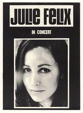 JULIE FELIX In concert UK 8 page programme 1966