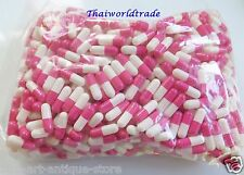 1000 Empty Gelatin Capsules Size 0 Colored White Pink Kosher Gel Caps Free Ship