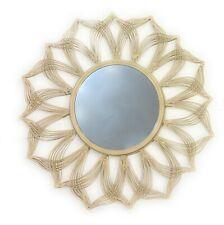 Sunburst Metal Wall Mirror 22''inch with 10''inch mirror creamy white