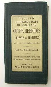 Bartholomews Reduced Ordnance Maps Scotland Outer Hebrides Lewis/ Harris 1875/91