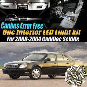8Pc CANbus Error Free Interior LED White Light Kit for 2000-04 Cadillac Seville